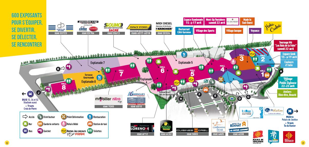 Plan Foire Spa Toulouse
